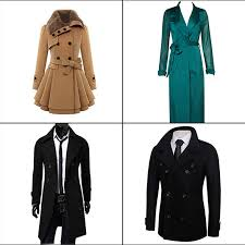 types of coat for men and women thick wool trench coat jacket thin trench coat wool double ted pea coat