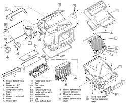 Chevrolet truck k1500 ton pu 4wd 7l tbi ohv 8cyl exploded view of the heater
