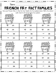 Addition Fact Family Worksheets First Grade Worksheets for all ...