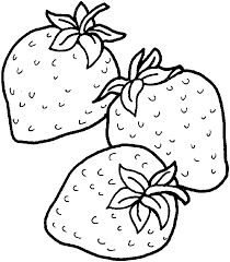 Strawberry Print And Color Free Printables