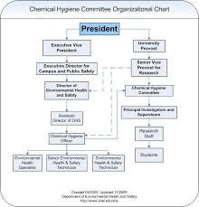 Committee Organization Chart Organizational Chart Environmental Health Safety