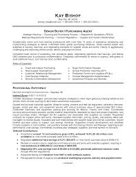 Pleasing Purchasing Job Resume Examples About Procurement Manager