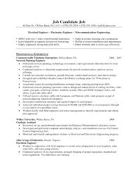 Sample Resume For Telecom Engineer Sample Telecommunication Engineer Cv Sample Telecom Resume Cover 2