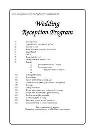 wedding reception agenda template index of cdn 4 2007 86