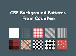 Css Pattern New CSS Background Patterns From CodePen Freebie Supply