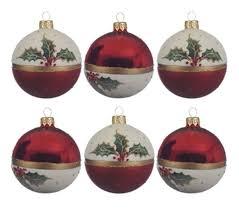 Weihnachtskugeln Glas 8cm Weihnachtsstern Weihnachtsbaum 6er Set