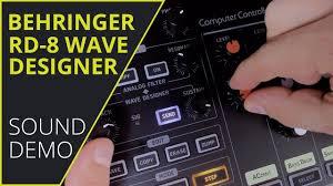 Wave Designer Behringer Rhythm Designer Rd 8 Wave Designer Demo No Talking