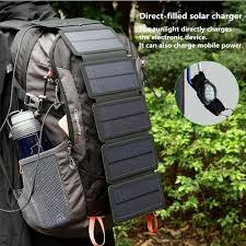Outdoor Foldable <b>Solar Panel Charging Panel Removable</b> Folding ...