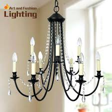 wrought iron and crystal chandelier well known x lighting