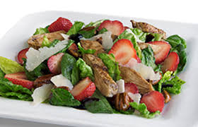 grilled chicken salad with strawberries.  Grilled And Grilled Chicken Salad With Strawberries