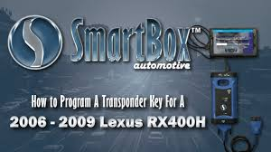 how to program a transponder key to a 2006 2009 lexus rx400h