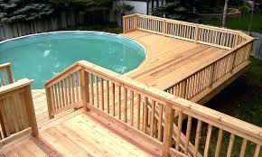 above ground pool decks. Round Pool Decks Plans Above Ground Deck Design Ideas .