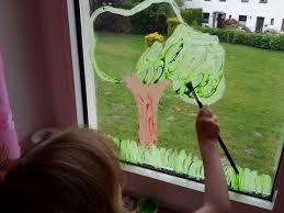 Fensterbild Mit Fingerfarben Diy Der Familienblog Für