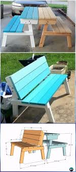 diy outdoor furniture plans. DIY Picnic Table That Converts To Benches Instructions - Outdoor  Ideas \u0026 Projects Free Diy Outdoor Furniture Plans