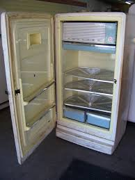 1954 ge with lazy susan shelves this antique refrigerator