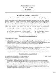 Real Estate Professional Resume Corporate Real Estate