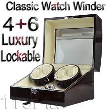 watch winder automatic watch winder ebony quad piano wood rotation display 4 6 box gift in uk