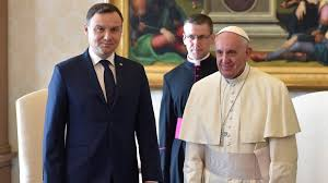 Image result for Photo of President Andrzej Duda and Pakistani muslim clerics