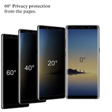 360 degree privacy 4d cut tempered glass screen protector for smasung note 8