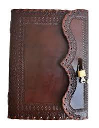 10 large genuine leather journal vintage antique style organizer blank notebook