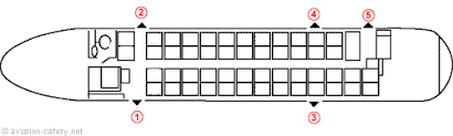 De Havilland Dash 8 400 Seating Chart Aviation Safety Network Airline Safety Emergency Exits