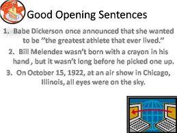 opening sentences essay good opening sentences essay