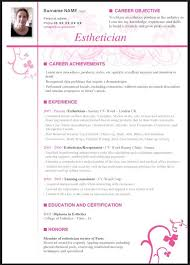 esthetician resume objective