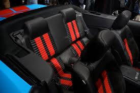 charcoal and red interior 2010 shelby gt500 with red stripe convertible