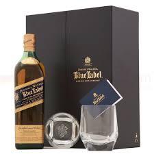 johnnie walker blue label gift set blended scotch whisky 70cl 40 old