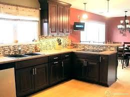 kitchen backsplash cherry cabinets black counter. Backsplash With Cherry Cabinets Ideas For Dark Kitchen And Slate Traditional . Black Counter