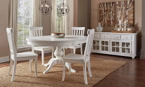 mad reclaimed pine round dining set