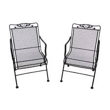 arlington house glenbrook black patio action chairs 2 pack