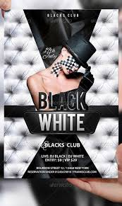 Flyer Black And White Top 10 Best Black And White Psd Flyer Templates To Download Club Party