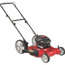 push lawn mower side view. yard machines 21-inch -158cc briggs \u0026 stratton 500 series mulch/side discharge gas powered push lawn mower with high rear wheels 11a-b04e000 side view