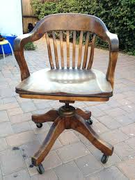vintage wooden office chair. Vintage Wooden Swivel Desk Chair Wood Office Antique Parts .