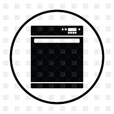 dishwasher clipart black and white. silhouette of dishwasher machine vector clipart clipart black and white r