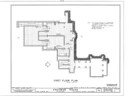 Frank Lloyd Wright   Freeman House  blueprints    What they do provide is accurate design information about a REAL Wright style house  not a pseudo Wrightian tract house as you will in the house plan