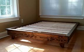Platform Bed, Low Profile Bed, Ava Solid Wood Bed, Bed Frame, Custom ...