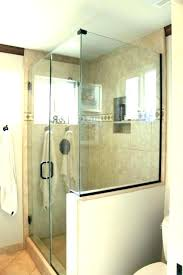 showers glass shower half wall astounding door and bathroom panel panels uk