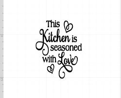 Maison Cette Cuisine Est Assaisonné Avec Amour Drôle Cuisine Mur Art