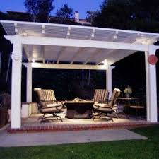 Free standing aluminum patio covers Cover Design Free Standing Patio Cover Idea With White Painted Pillars And Aluminum Roof Yelp Free Standing Patio Cover Idea With White Painted Pillars And