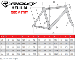 Ridley X Trail Size Chart Ridley Frame Size Guide Framexwall Com