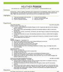 Merchandising Resume Visual Merchandiser Resume Sample Retail Resumes Livecareer