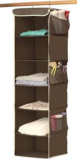 sturdy hanging closet organizer. Wonderful Closet SimpleHouseware 6 Shelves Hanging Closet Organizer Bronze For Sturdy Organizer R