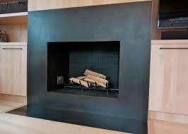 metal fireplace surround black