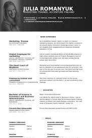 Marketing Trainee Resume samples