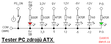 atx power supply tester circuit diagram wiring schematics and atx pc power supply tester