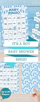 It's a Boy Baby Shower Bingo Game - 24 Guests | Baby shower games ...