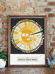 Charted Cheese Wheel Pop Chart The Charted Cheese Wheel Poster Print 18 X 24 Multicolored