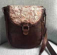 jack georges savio horseshoe cross bag buffalo leather brown cream 9738 new